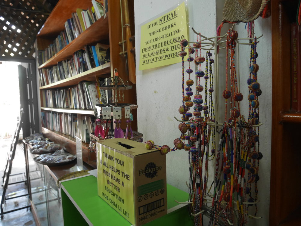 supporting the luang prabang library at the shop