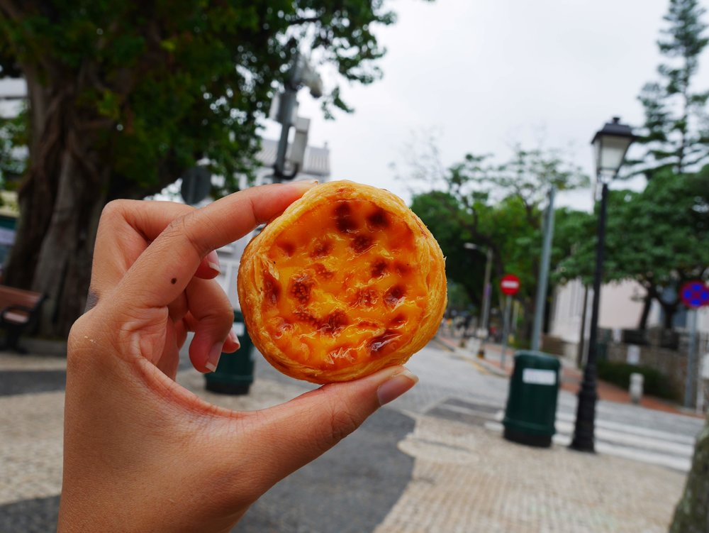 Portuguese-style Macanese Egg Tart from Lord Stow's Bakery Cafe in Macau