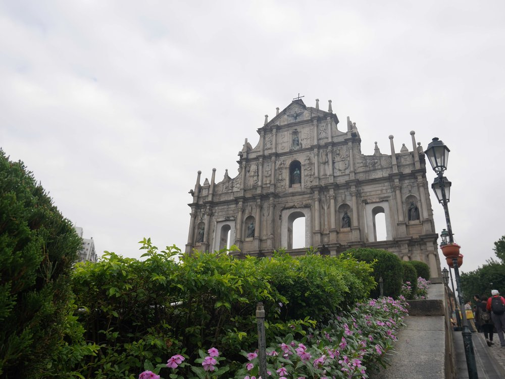 the ruins of St. Paul's - the most famous landmark in macau