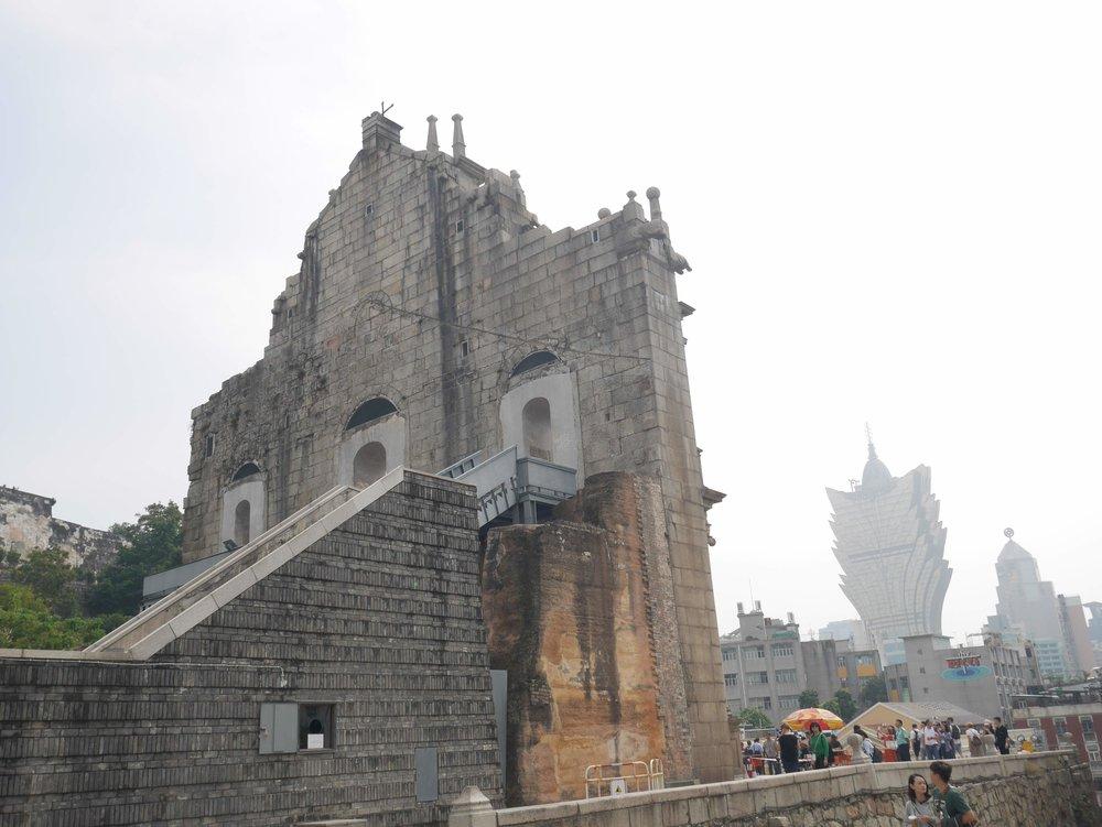 what's left of St. Paul's Church in Macau