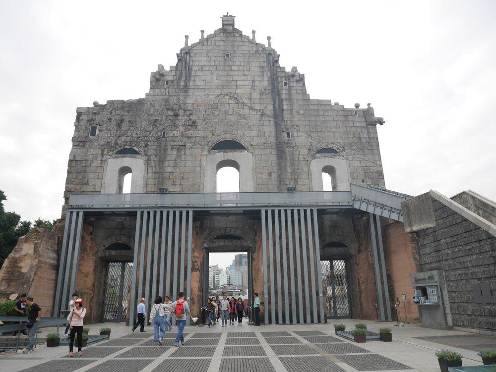 behind St. Paul's Church, Macau