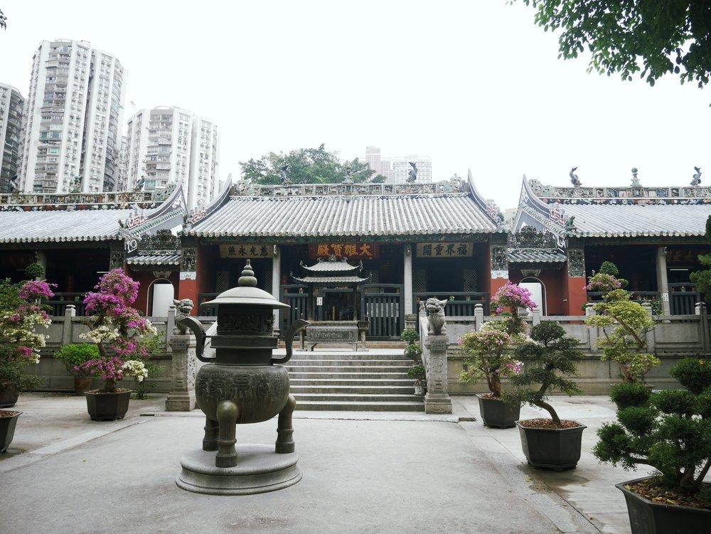 inner courtyard at Kun Iam Temple, Macau