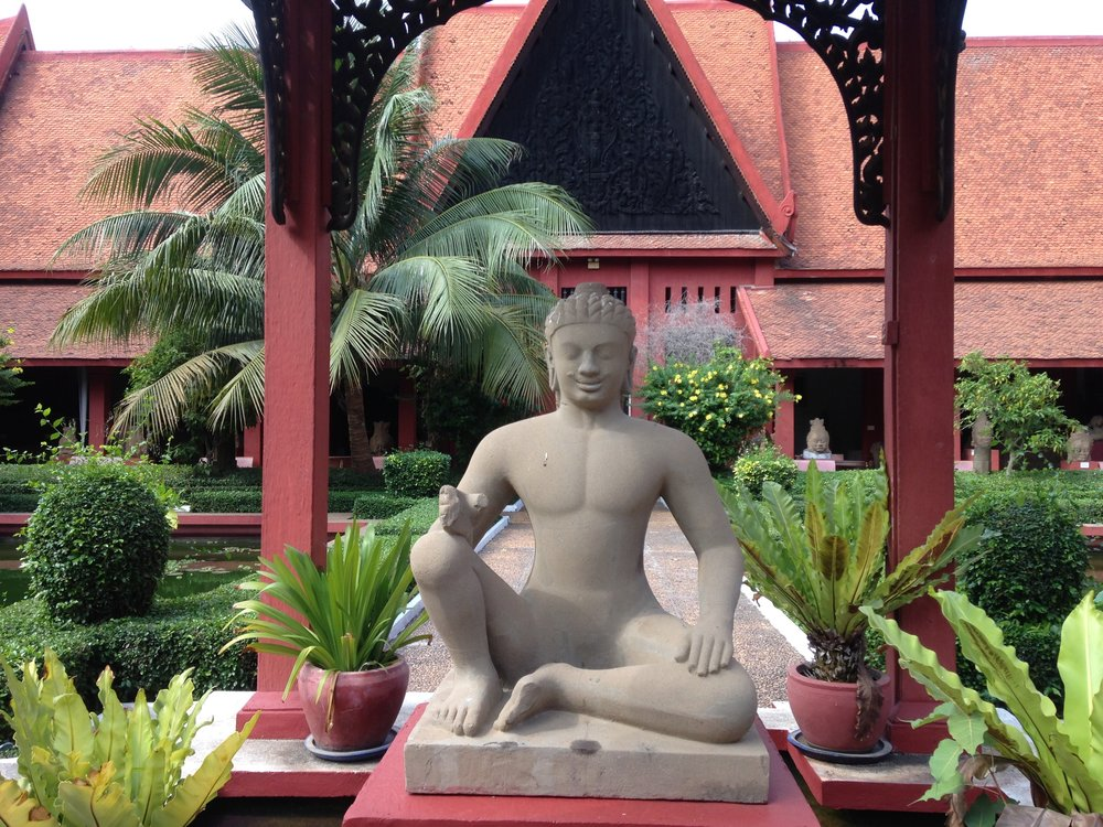 Khmer style statue at the cambodia national museum