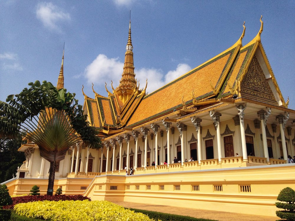 The Throne Hall at the Cambodian Royal Palace, Phnom Penh.