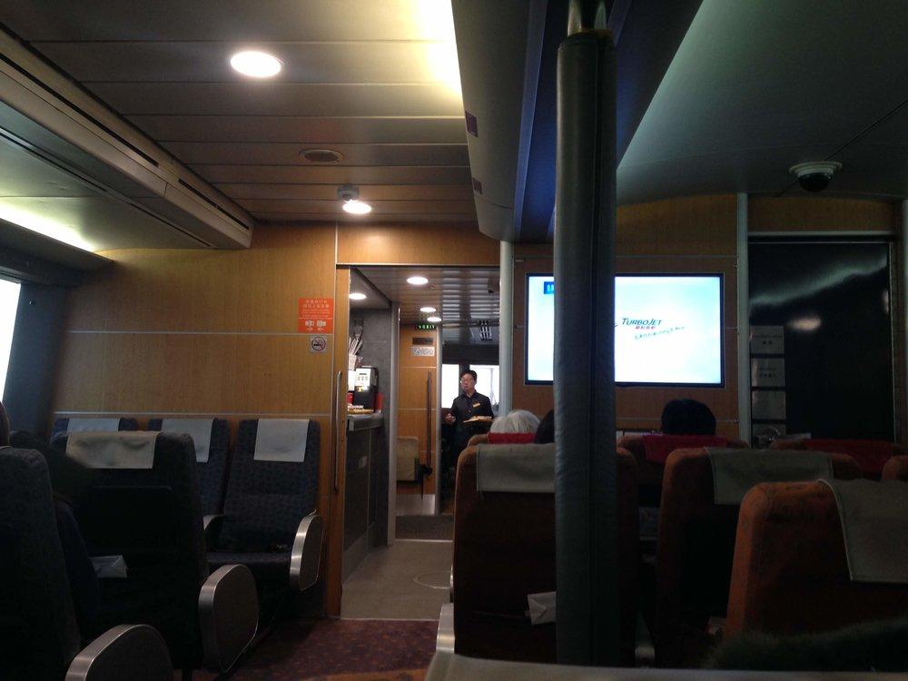the Macau-Hong Hong Ferry interior