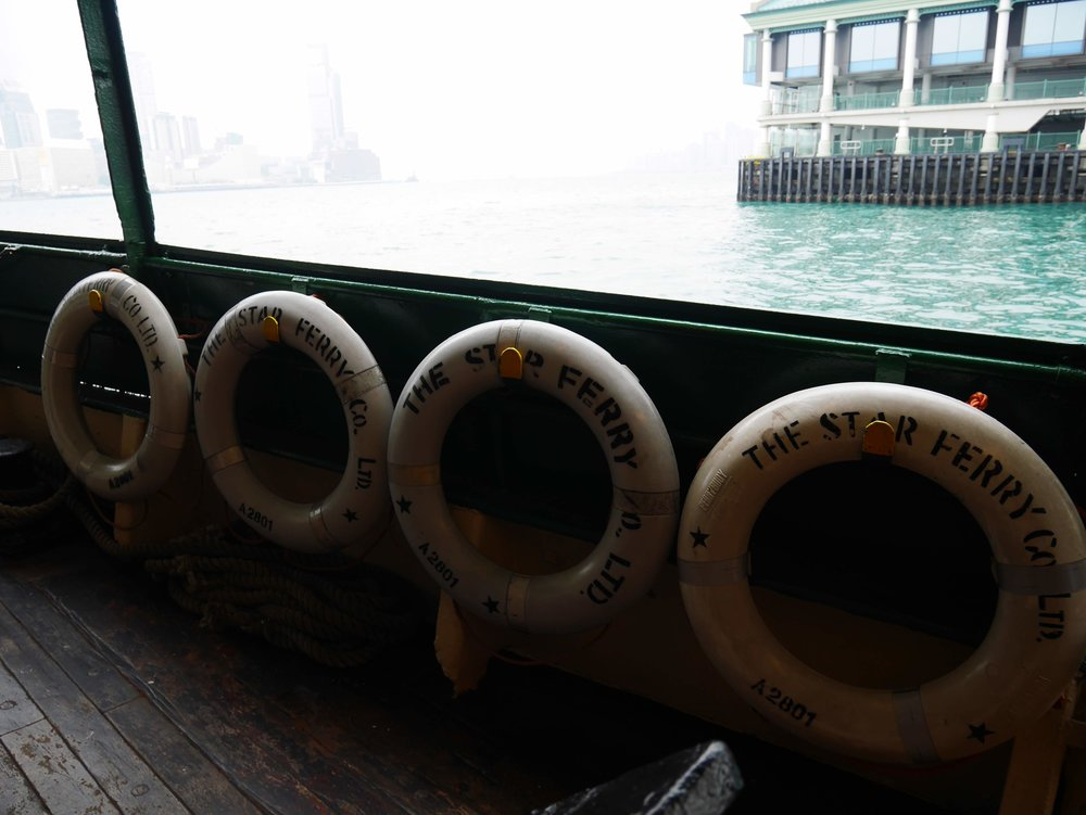 On board the iconic Star Ferry in Hong Kong
