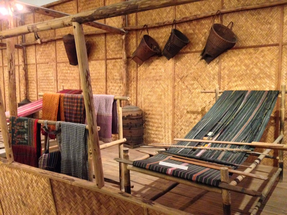 Exhibits and demonstrations about Vietnam's traditional textile industry