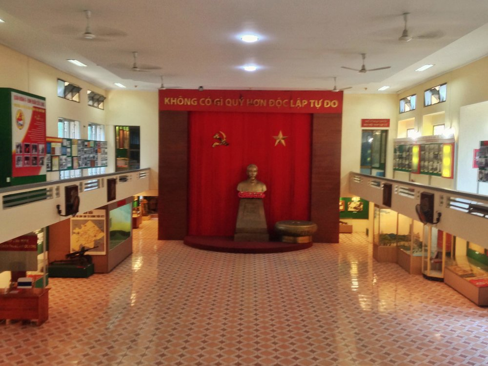 the interior hall at the Ho Chi Minh Movement Museum