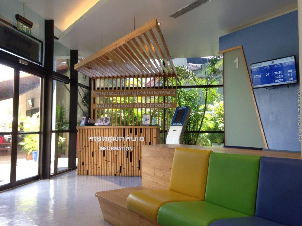 inside the Pasteur Institute clinic in Phnom Penh, Cambodia
