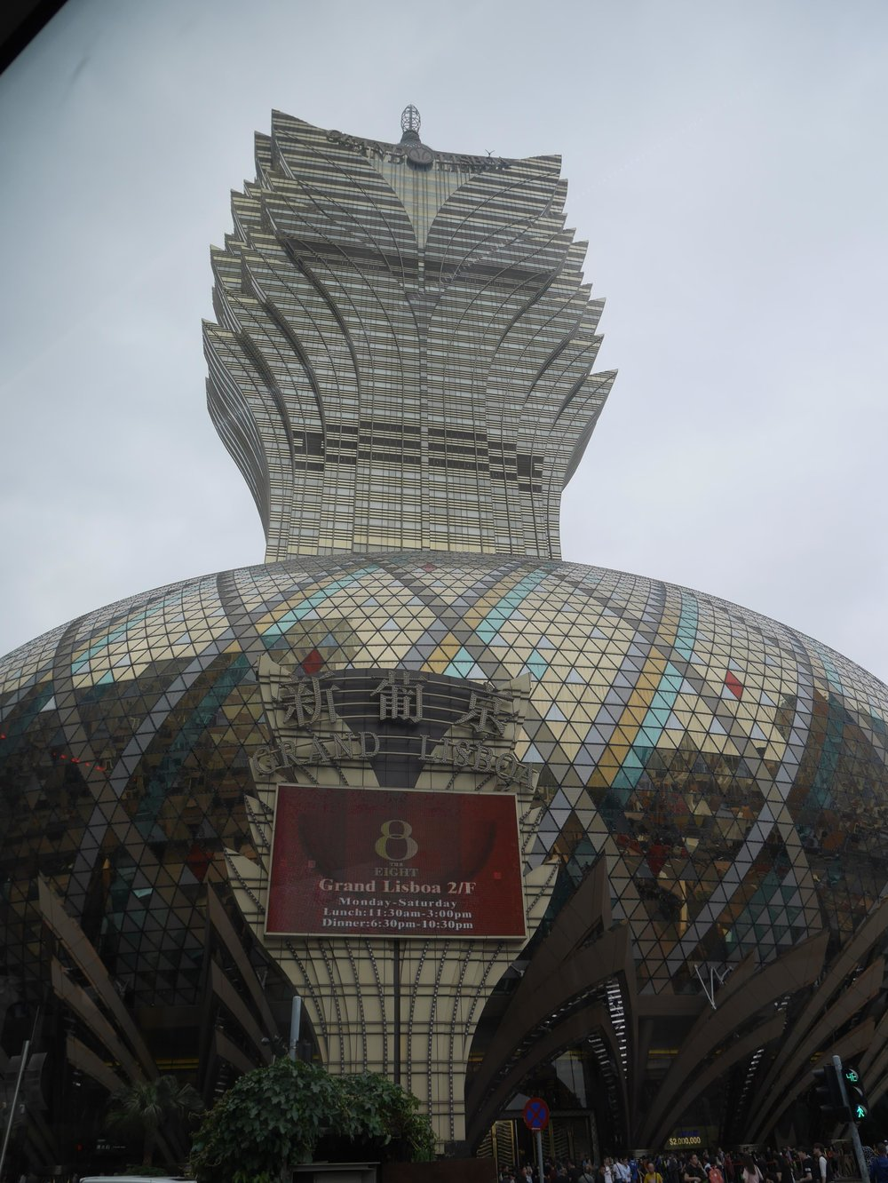 The Grand Lisboa is the tallest building in Macau