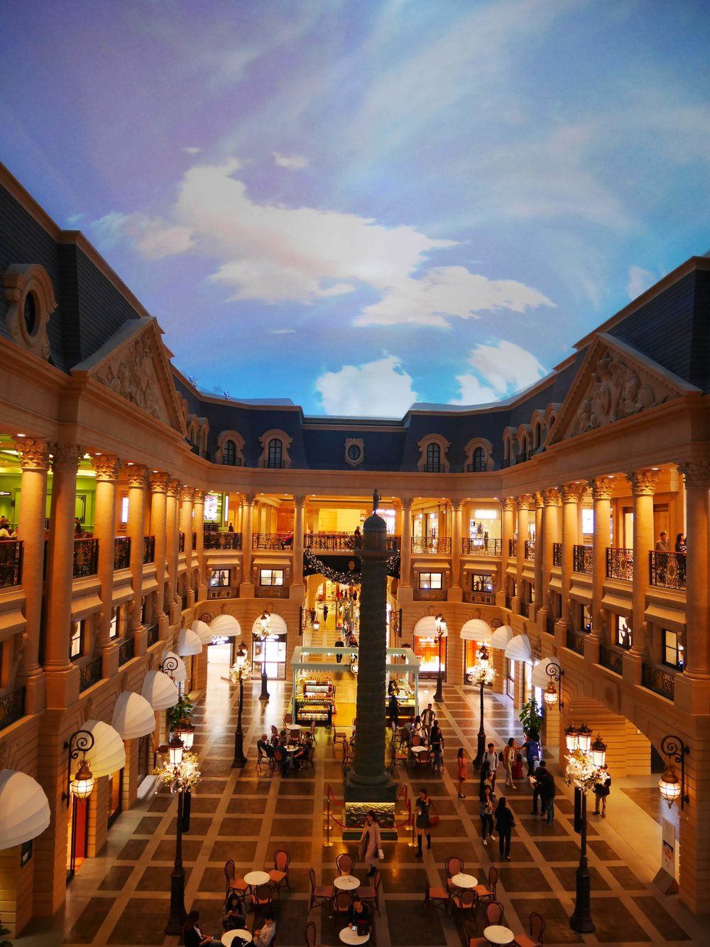 areas inside the Parisian Macau are designed to look like the streets of a French village