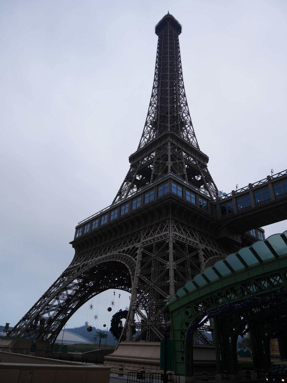 the half-scale Eiffel Tower at the Parisian Macau