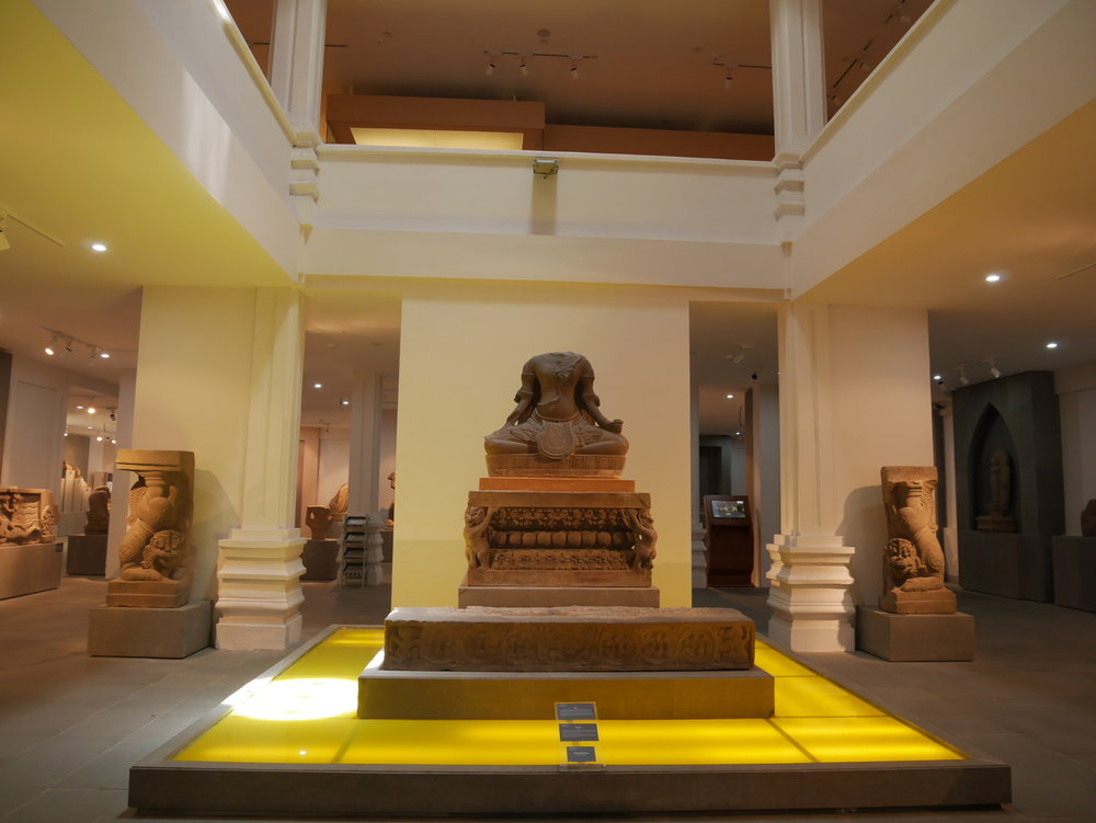 Khmer-style Cham artifacts at the Da Nang Museum of Cham Sculpture