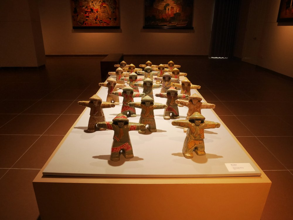 carvings at the Da Nang Museum of Fine Arts