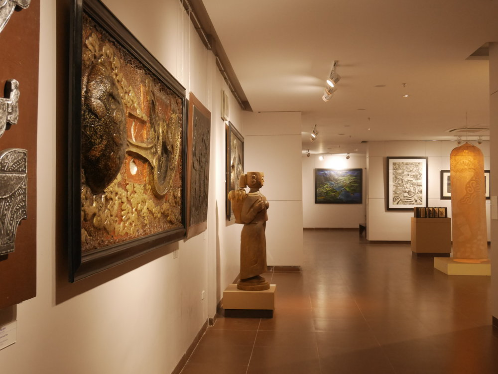 art and artifacts at the Da Nang Museum of Fine Arts