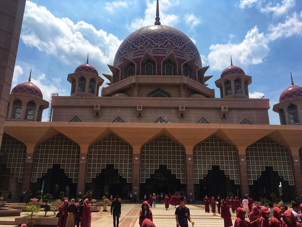 visiting the Pink Mosque