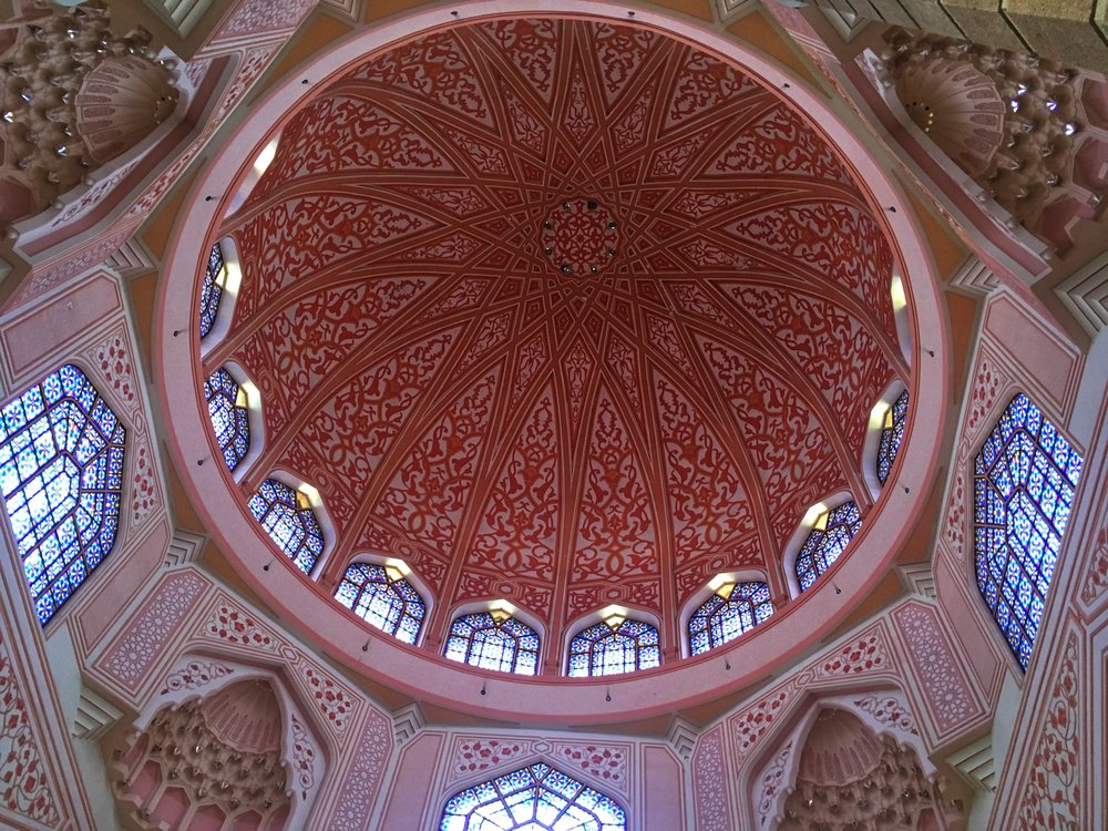 the central dome of the Masjid Putra