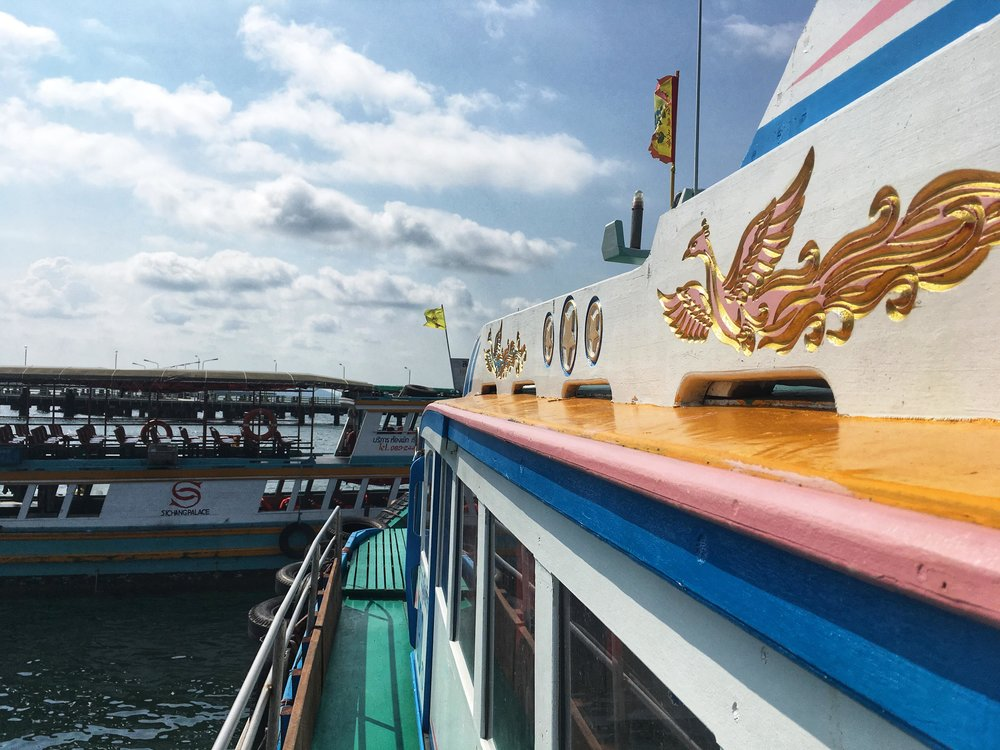the ferry to Koh Sichang costs only 50 Thai baht (about $1.50) and takes around 40 minutes