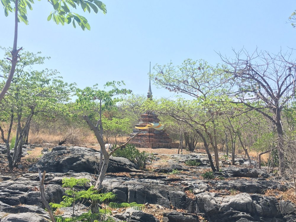 the Square Pagoda on the hike up to the Koh Sichang viewpoint