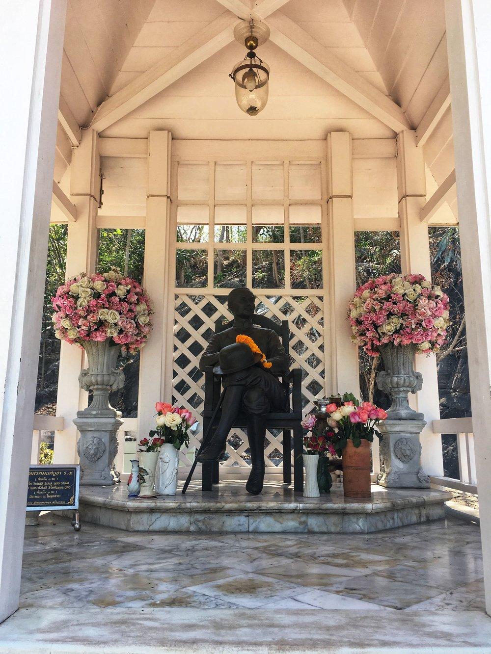 a memorial to King Chulalongkorn on Koh Sichang Island