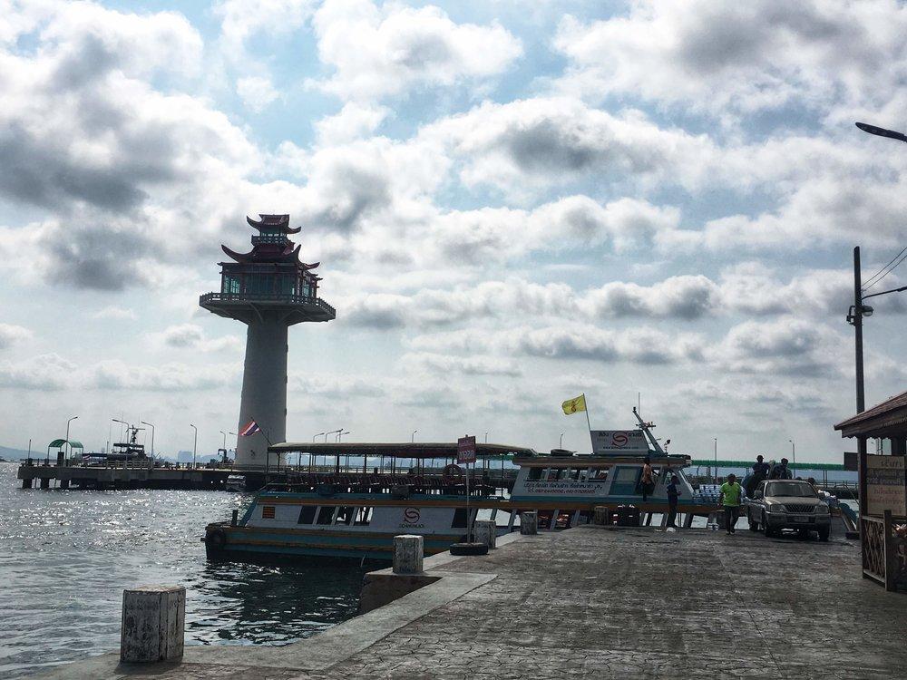 the tourist pier on Koh Sichang
