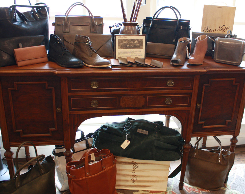 Peter nappi leather shoes and bags