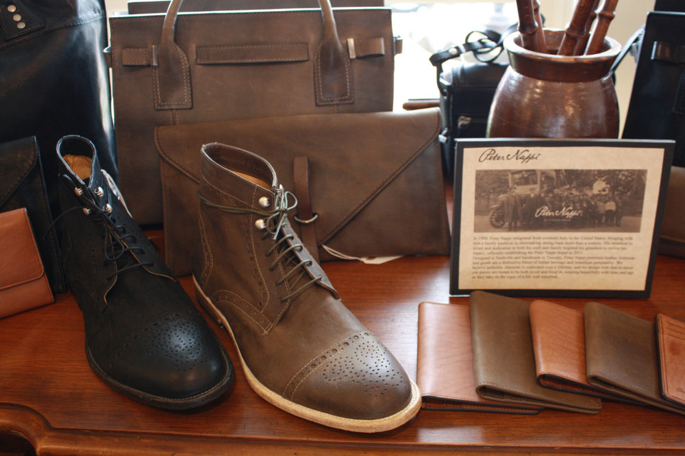 Peter nappi leather shoes and wallets