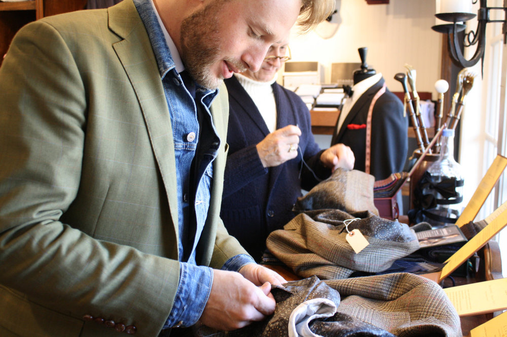 finishing touches to loring co jackets