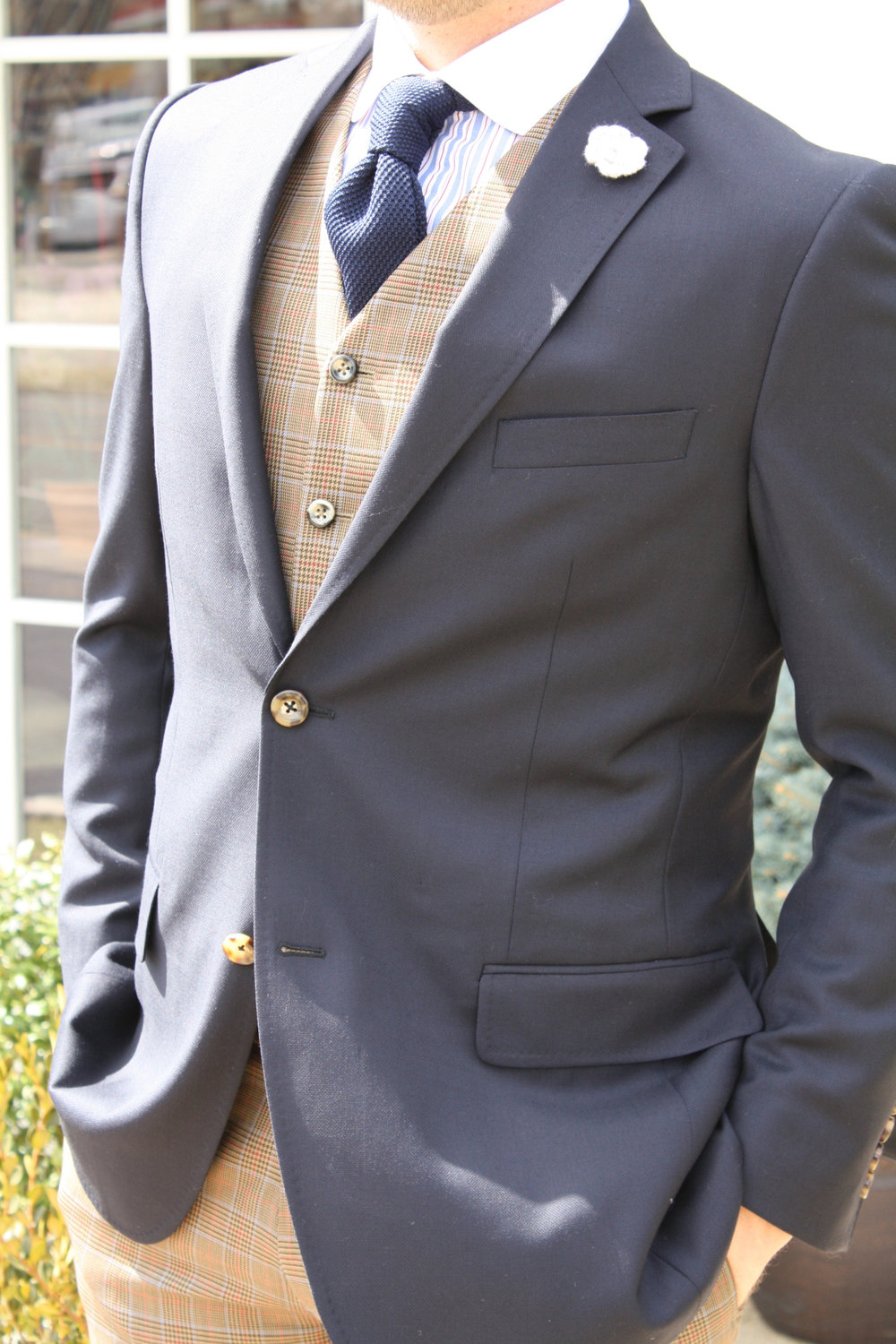 gray travel blazer
