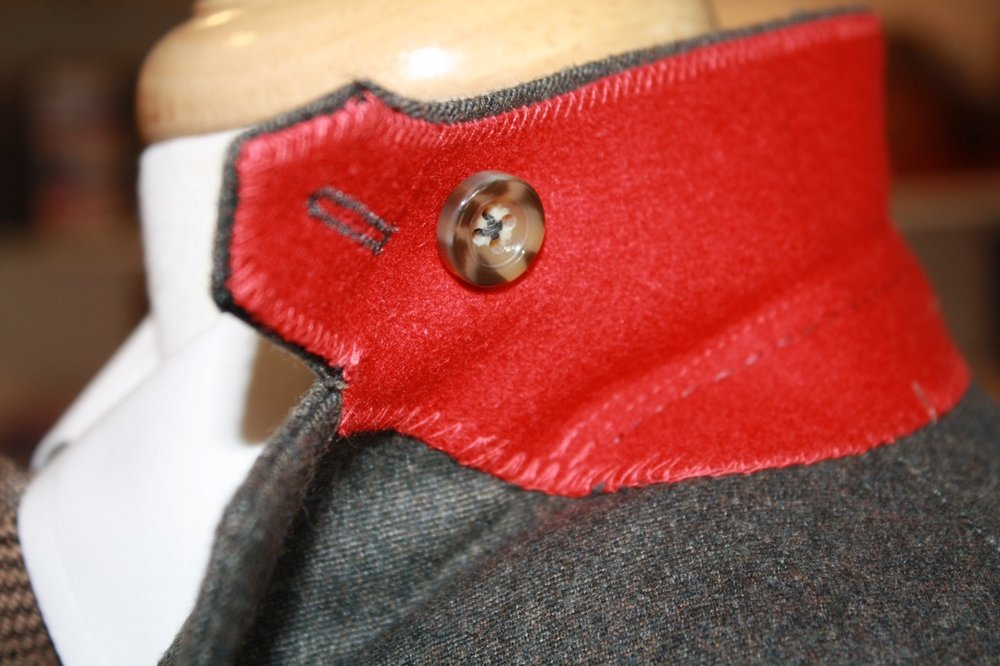 bespoke suit colonels collar