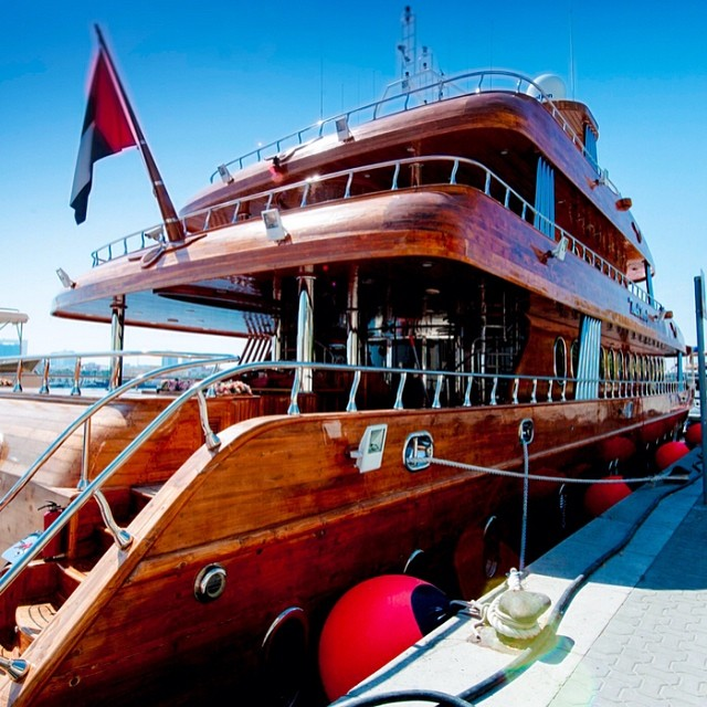 manoftheworldusuniverse: The Touch Wood II, a 145-foot yacht made entirely of solid teak.