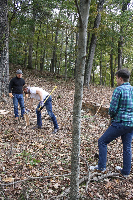 bespoke clothing wood chopping
