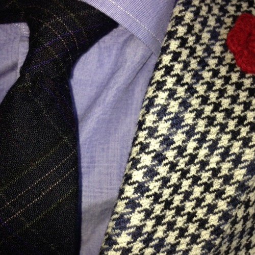 custom suit houndstooth