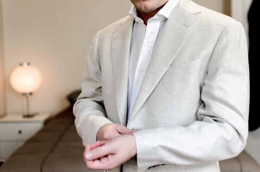 linen custom suit