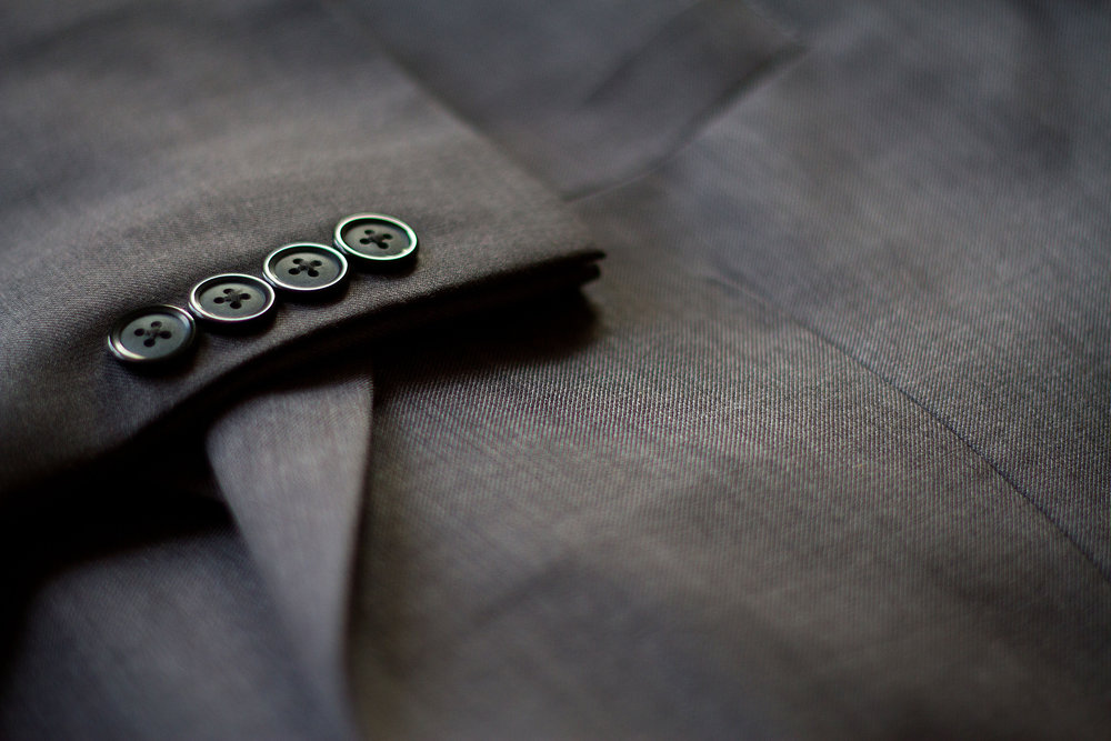 gray cotton custom suit