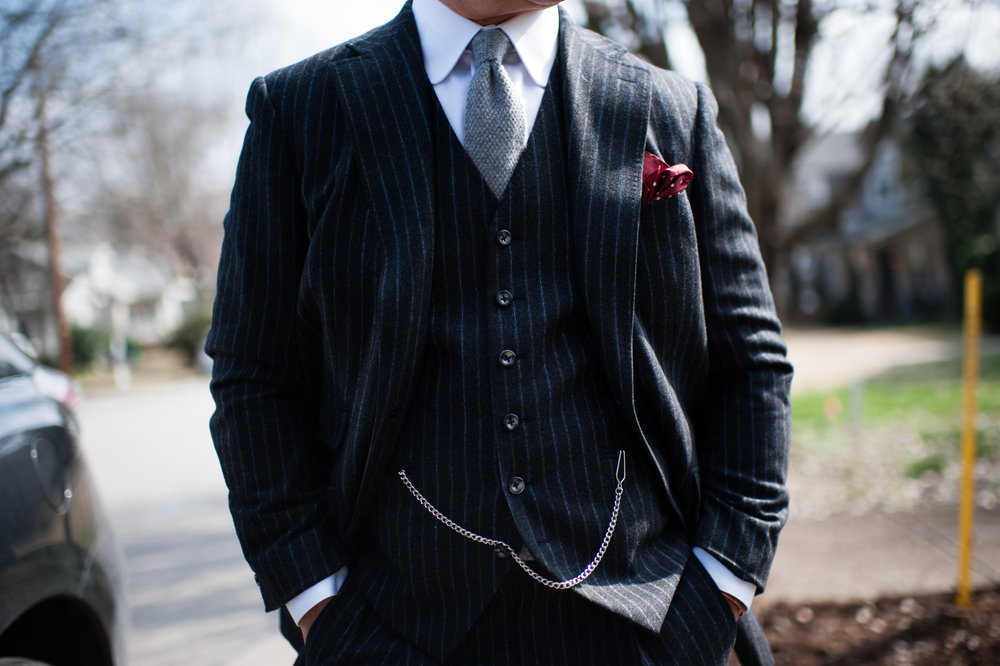 black custom suit in nashville