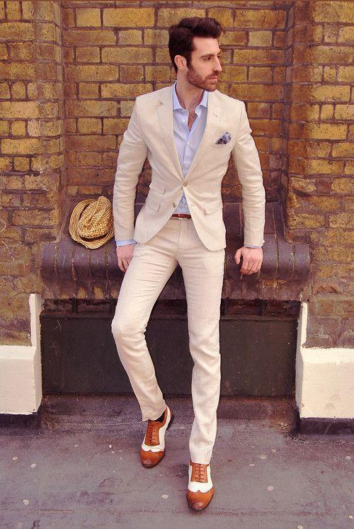 light champagne custom suit