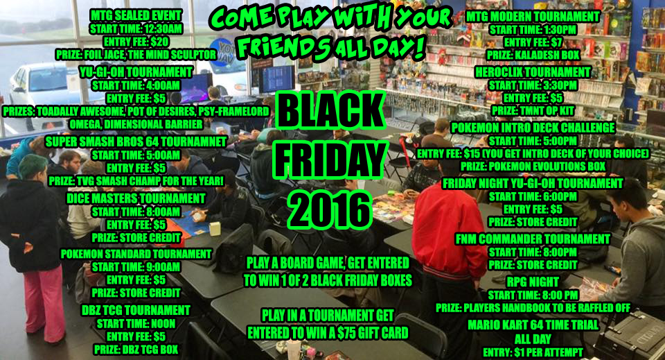Black Friday 24 Hours of Gaming! — The Toy Vault