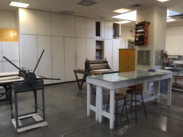 Print Studio located in the McCray Bldg - Rm 105