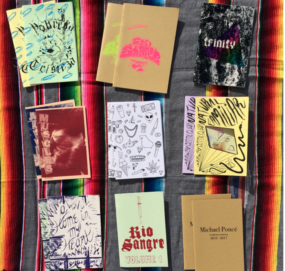 Zine Making Workshop - Sunday, October 7th, 201812:30 - 3:30 PMIn this workshop, participants will learn the ins and outs of zines and leave with a booklet of their own making. Participants will use a photocopier, collage, and an array of mixed media to create a zine of their own envisioning!This fun and laid-back workshop will be led by Matthew Garza of the Rio Sangre Print Collective in Las Cruces, NM.$20 per personAll materials will be provided!CANCELLED