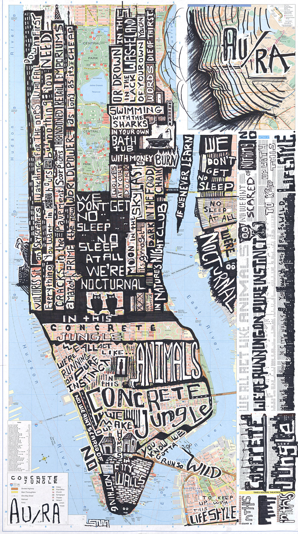 Concrete Jungle (Lyric Map) NY NY