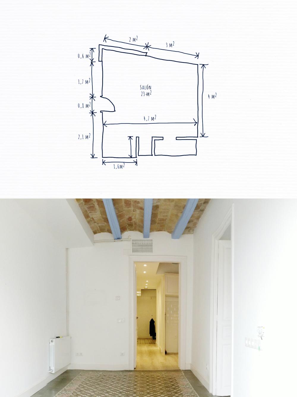 TUS PREFERENCIAS - • Plano con medidas y fotos de las habitaciones.> Te guiamos para hacerlo como un pro• 2 tableros Pinterest con fotos que te inspiran y que no. 1 foto de tu ropa preferida (o de tu ropero.Sí!)• Tu presupuesto