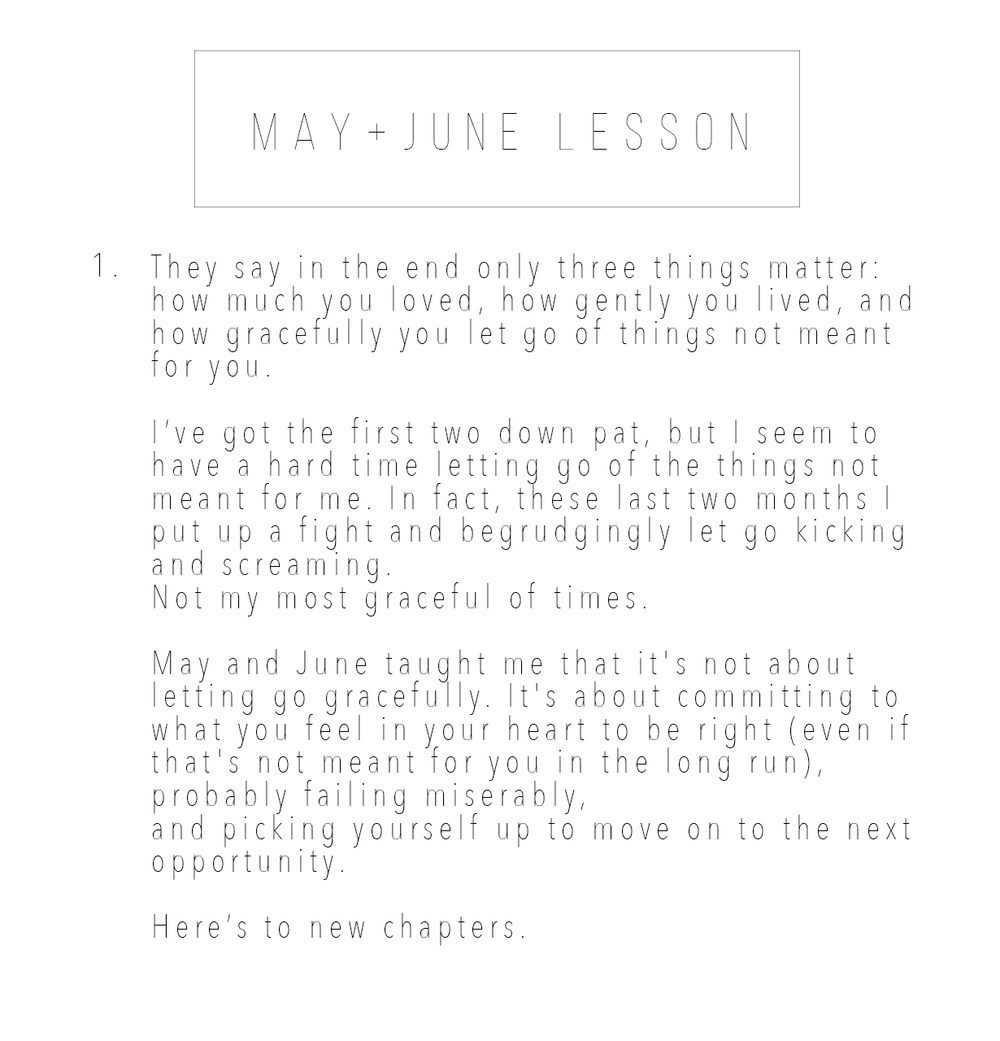 May + June Lesson _