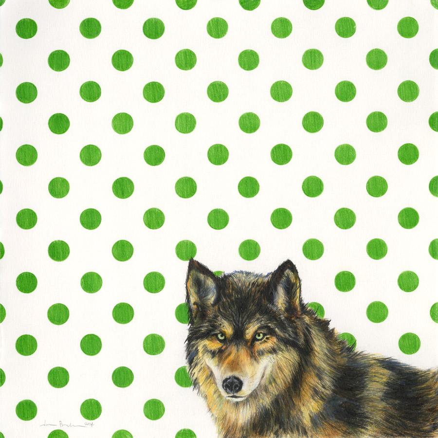 wolf print u2014 happy deer kids