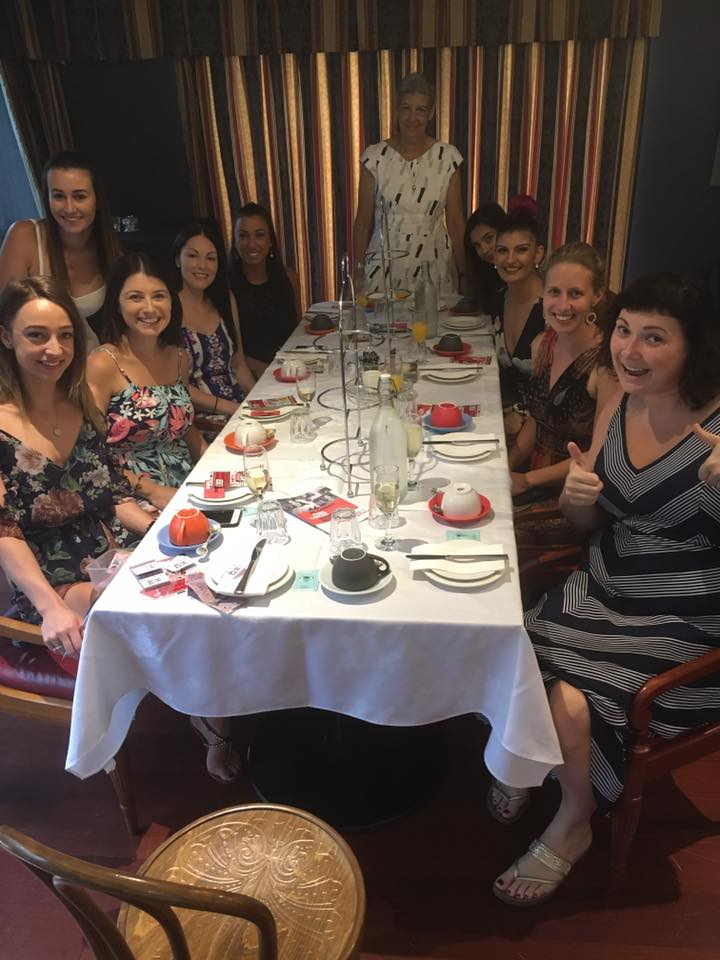 The ladies at the high tea