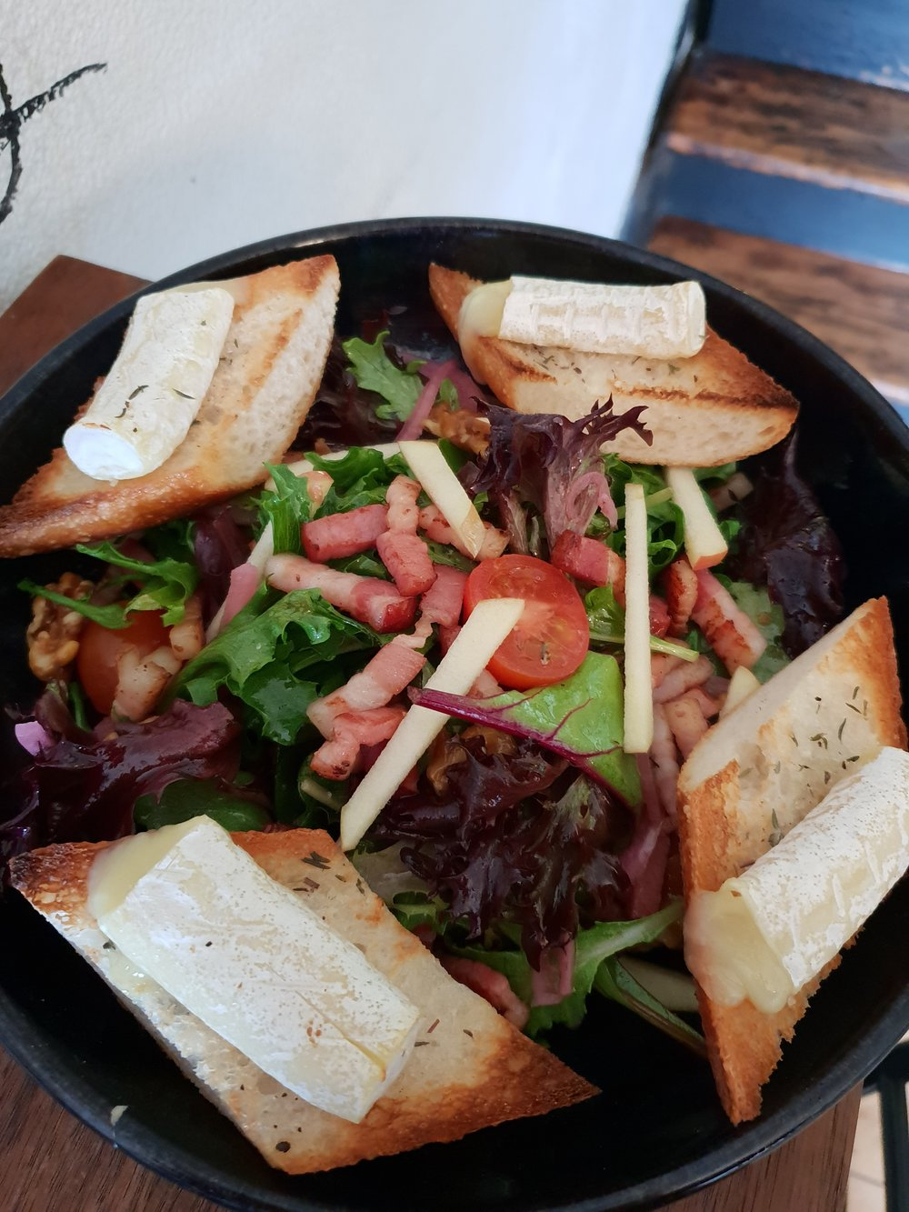 Warm Goat Cheese Salad -
