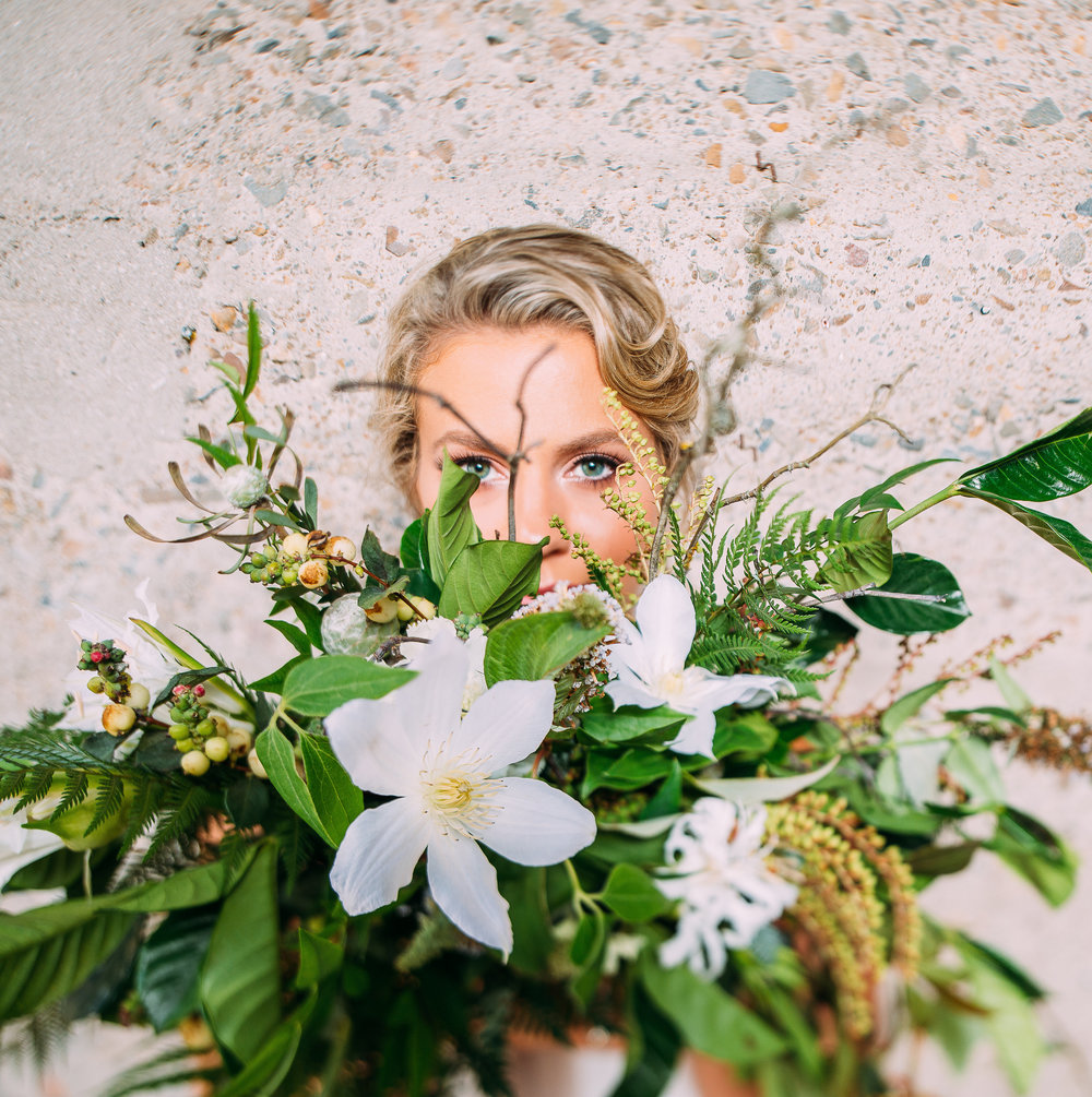 Photography: Fog And Dawn Venue: Luce Loft Florals: Blue Ladder Botany Rentals: Folklore Hair & Makeup: Jessica Tyransky Hair and Makeup Sweets: Sweet As Bliss
