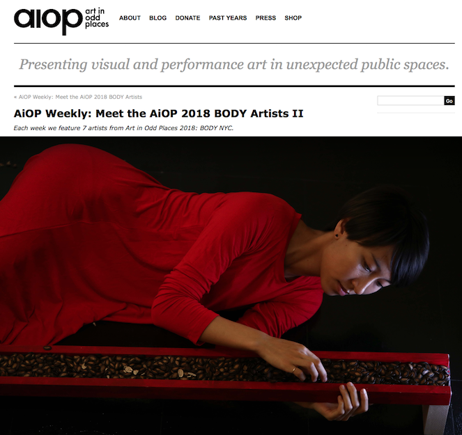 """AiOP Weekly: Meet the AiOP 2018 BODY Artists II  "" AiOP   In my works, I often re-examine my family structure within the context of the patriarchal Chinese culture, and visualize the painful emotions hidden under the skin."