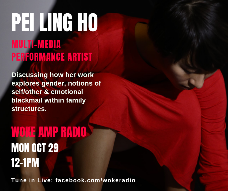 Artists Interview on WOKE AMPRadio, Pratt Institute by Jaguar Mary X    Mutil-disciplinary performance artist, Pei-Ling Ho talks about performance as a way to heal relationships within family structures.