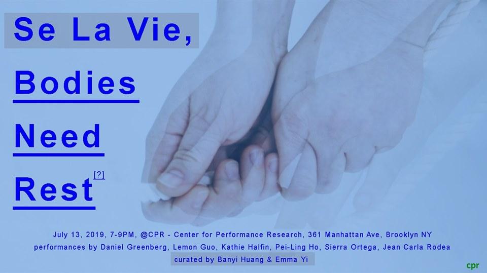 Se La Vie, Bodies Need Rest: Part I_ July 13th — PEI LING HO